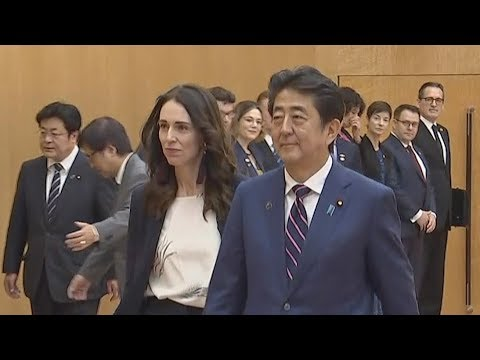Trade and security high on the agenda as Jacinda Ardern meets Japan's prime minister