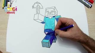 minecraft steve çizimi l minecraft nasıl çizilir l How to Draw minecraft