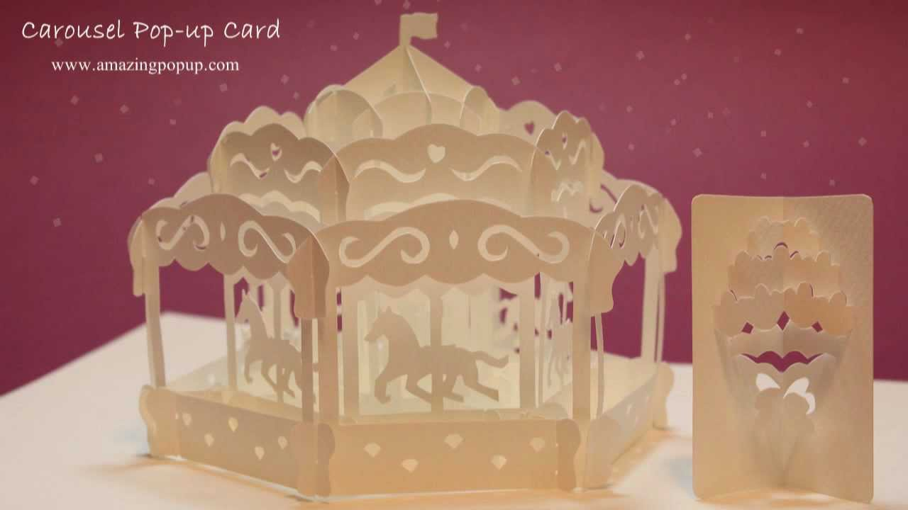 HOW TO MAKE A CAROUSEL POP UP CARD YouTube