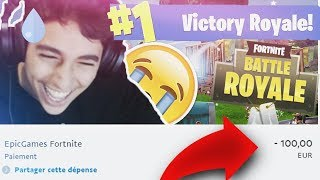 IF YOU PERDS, I HACK YOUR PC, I DEPENSE ALL ON FORTNITE BATTLE ROYALE?! (ft Brice)