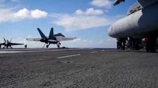 27 hours onboard USS Carl Vinson