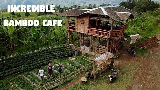 AMAZING BAMBOO CAFE IN THE PHILIPPINES (Filipino Inspiration and Strawberries)
