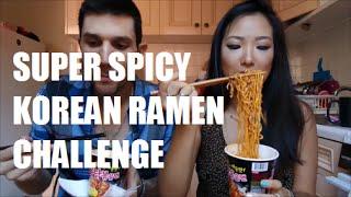 SUPER SPICY KOREAN RAMEN CHALLENGE!