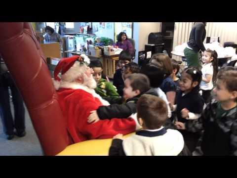 Campbell Kiwanis takes Santa Claus to Rosemary Elementary School III 12.14.2011