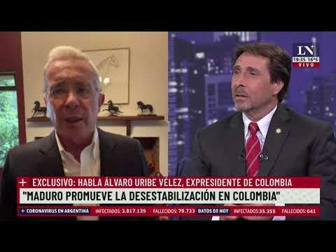 """""""Quieren convertir a Colombia en Venezuela y Cuba"""" aseguró Álvaro Uribe,  expresidente de Colombia"""