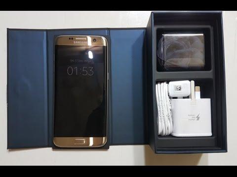 Samsung Galaxy S7 Edge Unboxing Gold Platinum! Bahasa indonesia