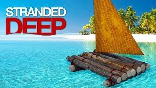 Обзор игры Stranded deep #1 Охота на акул