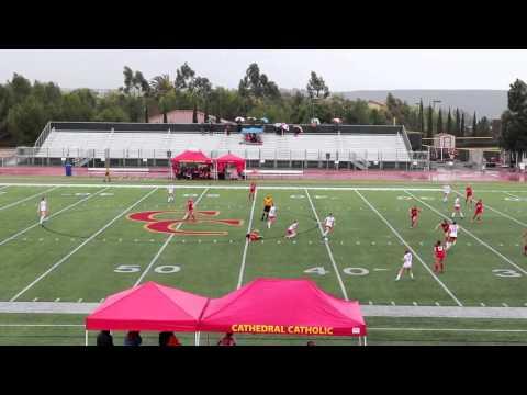 Mater Dei High School Girls Varsity Soccer vs. Cathedral Catholic High School 12-11-2015