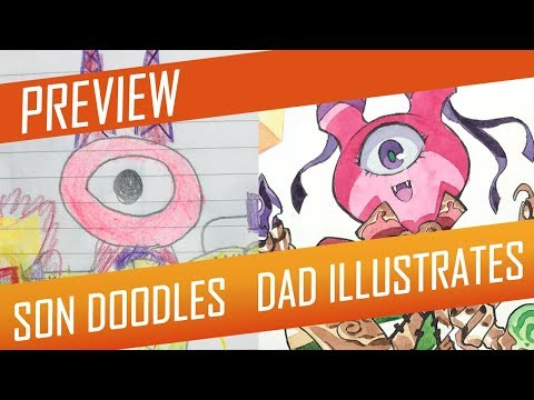 DRAWING with my kids - LITTLE BOX WITCH [PREVIEW] No.46
