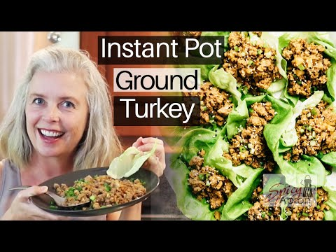 Instant Pot Ground Turkey Lettuce Wraps - EASY Weeknight Meal
