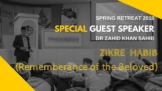 Zikre Habib (Remembrance of the Beloved) - Dr Zahid Khan: SPRING RETREAT 2018