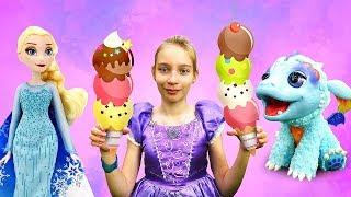Принцесса София иЭльза Холодное Сердце— Куклы иигры для девочек— Мороженое для принцессы