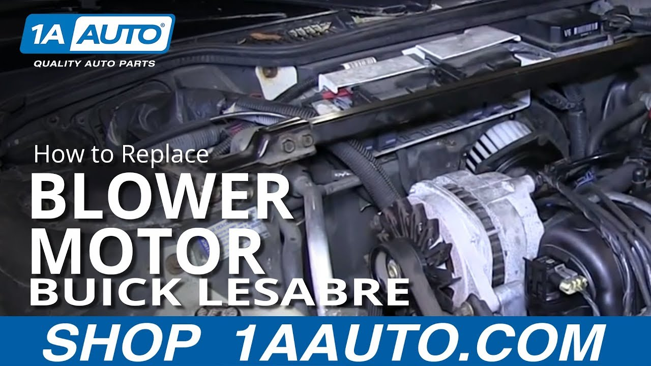 maxresdefault how to install replace heater ac blower fan motor 1992 99 buick  at readyjetset.co