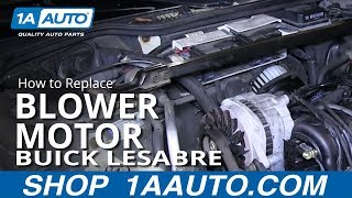 How To Install Replace Heater AC Blower Fan Motor 1992-99 Buick and Lesabre Park Avenue