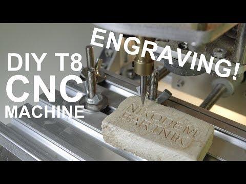 Engraving on DIY T8 CNC machine