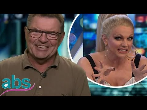 Steve Price jokes with Courtney Act about tucking on the Project  | ABS US  DAILY NEWS