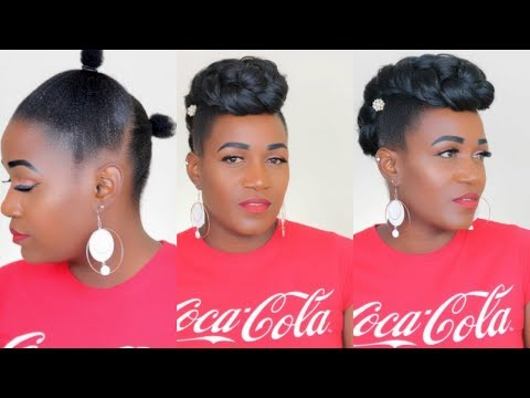 HAWK UPDO ON SHORT NATURAL HAIR | REQUESTED