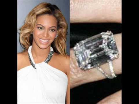 Celebrity Beyonces Engagement Ring