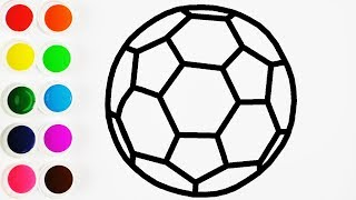 Como Dibujar Balon de Futbol - How To Draw Football Ball - Learn Colors / FunKeep