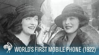 World's First Mobile Phone (1922)(World's First Mobile Phone (1922). Found by a researcher in the Pathe vaults, this clip from 1922 shows that 90 years ago, mobile phone technology and music ..., 2011-09-16T10:03:40.000Z)