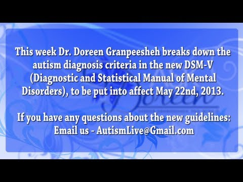 Autism Diagnosis Criteria in the DSM-V