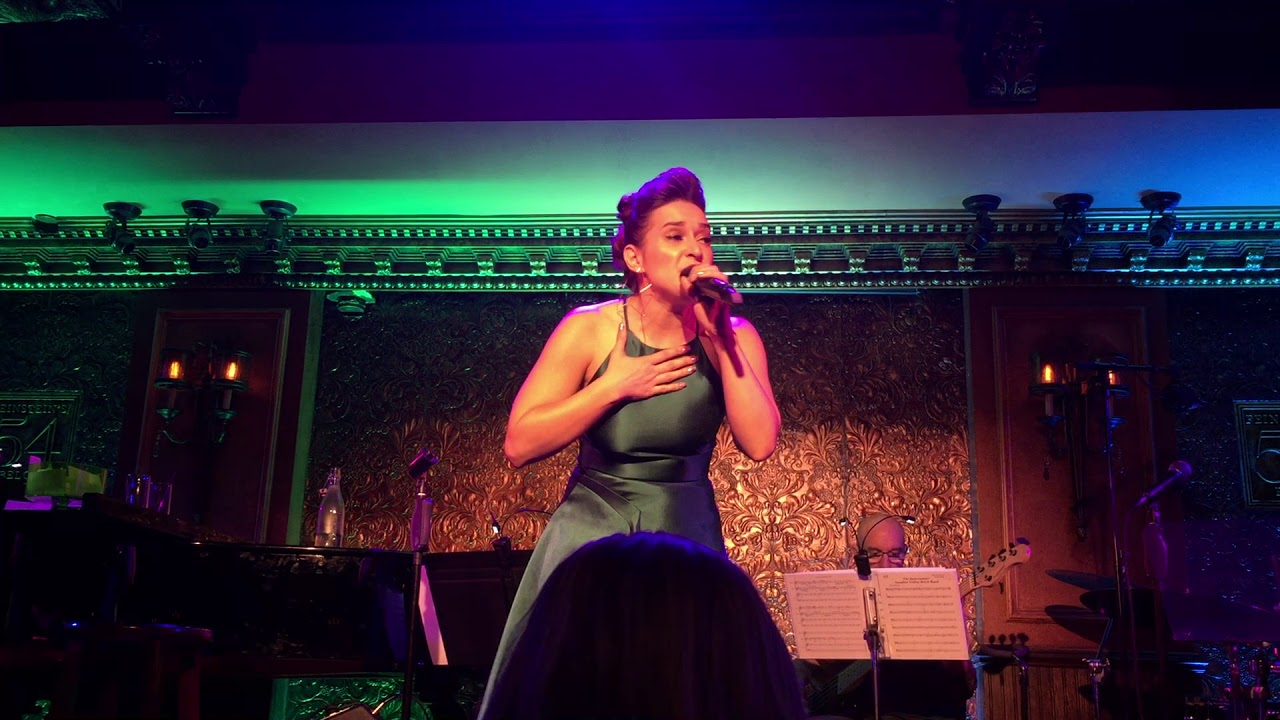 "Jessica Vosk at 54 Below singing ""The Wizard and I"" (2.1.18)"