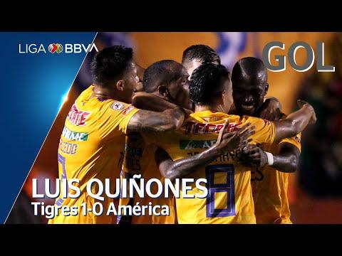 Gol de L. Quiñónes | Tigres UANL 1 - 0 América | Liga BBVA MX - Apertura 2019  - Jornada 6