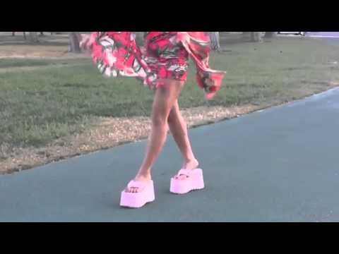 7 inch platform high heel stilettos thongs 9