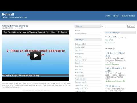 Hotmail eMail service