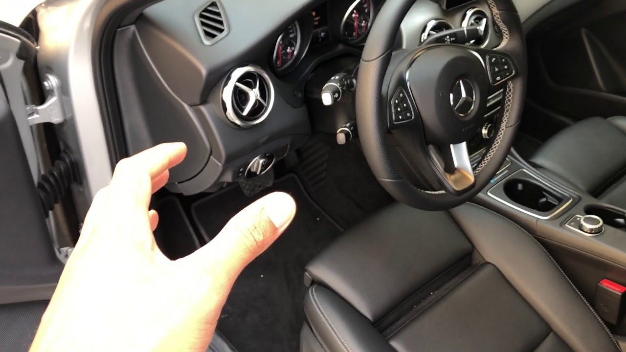 how to pop the hood on mercedes a class