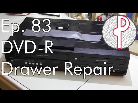PTS Ep. 83 - Detached DVD Tray from DVD-R / VCR Combo Repaired