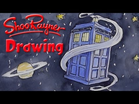 How to draw Doctor Who's TARDIS - YouTube
