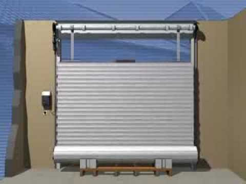 Montage d 39 une porte de garage enroulable rollmatic h rmann youtube - Porte enroulable garage ...