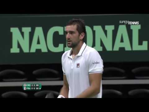 Marin Cilic vs Richard Gasquet FULL MATCH HD Davis Cup 2016 PART 3