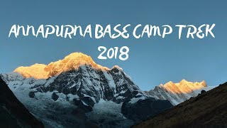 ANNAPURNA BASE CAMP TREK | VLOG | October, 2018 | 6 DAYS |