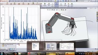 Drawing with a 4 DOF robot arm in Matlab, LabVIEW and Solidworks (1)