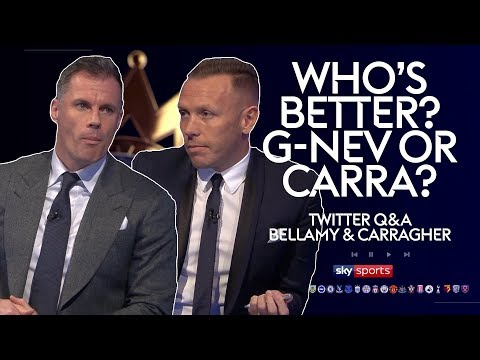 Who was the better defender; Carragher or Neville? | Craig Bellamy & Jamie Carragher | Twitter Q&A