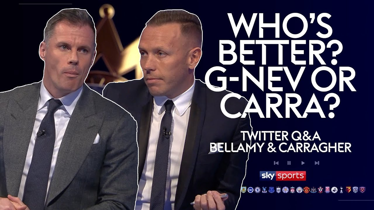 Who was the better defender; Carragher or Neville? | Craig Bellamy & Jamie Carragher | Twitter Q