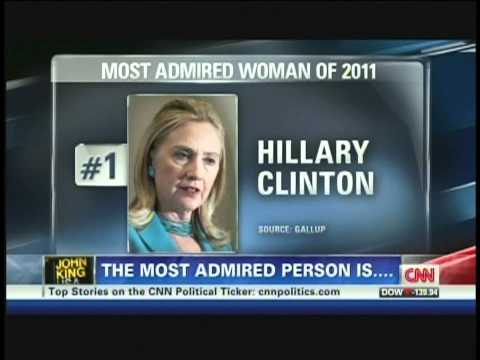 President Obama and Hillary Clinton Most Admired 2011 (December 28, 2011)