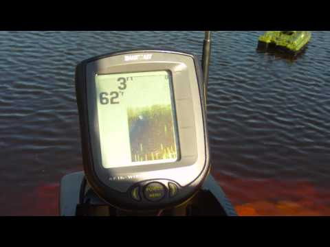 Anatec Bait Boat With RF15 Humminbird Fish Finder Demo