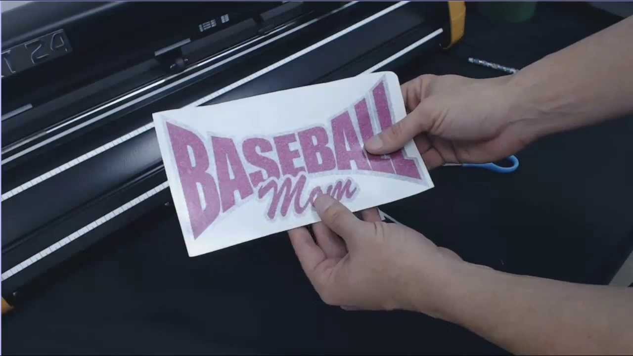 How To Make A Glitter Baseball Mom Car Window Decal GCC Expert - Custom car decals baseball