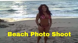 bikini photo shoot with fitness model Laura London