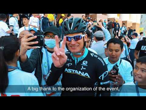Благотворительный велопробег в Атырау 2018