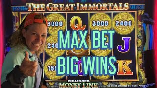 💰💰MAX BET THE GREAT IMMORTALS MONEY LINK BIG WINS💰💰CHOCTAW DURANT CASINO