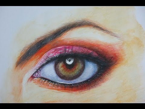 How to Draw A Realistic Eye with Watercolor Pencil