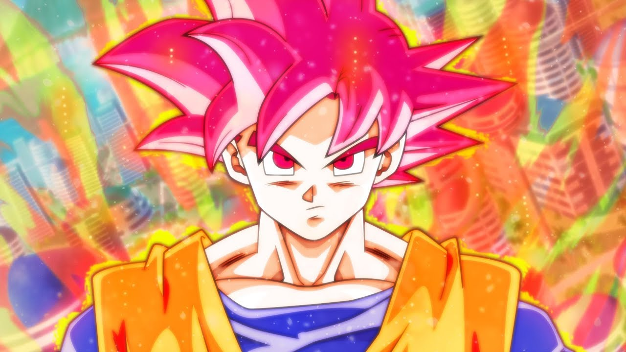 Making Goku Super Saiyan God Aura Wallpaper Speed Art Youtube