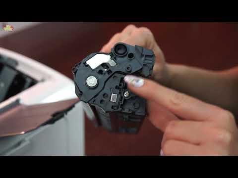 Drukarka HP LaserJet Pro M12w - jak wymienić toner I DrTusz.pl