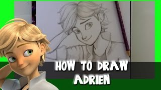How to Draw ADRIEN from MIRACULOUS LADYBUG- @dramaticparrot
