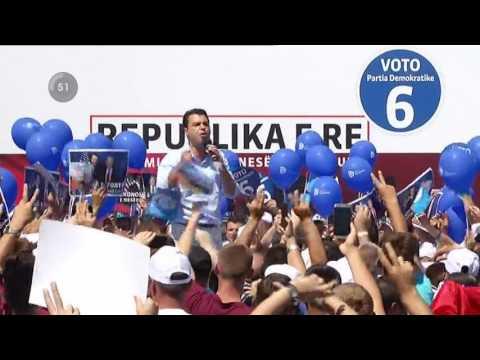 Basha në Kukës: Do ju udhëheq drejt ndryshimit si Berisha - Top Channel Albania - News - Lajme