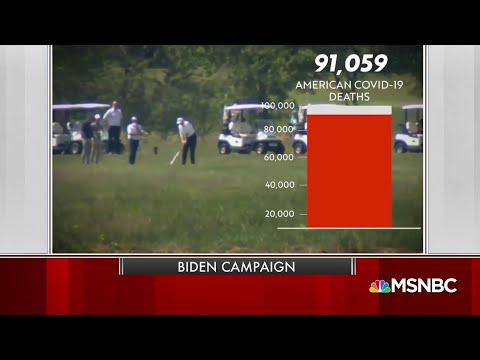 New Biden Ad Slams Trump For Golfing As Death Rate Rises | MSNBC